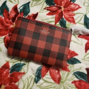 🆕️Red Gingham Coach Wristlet